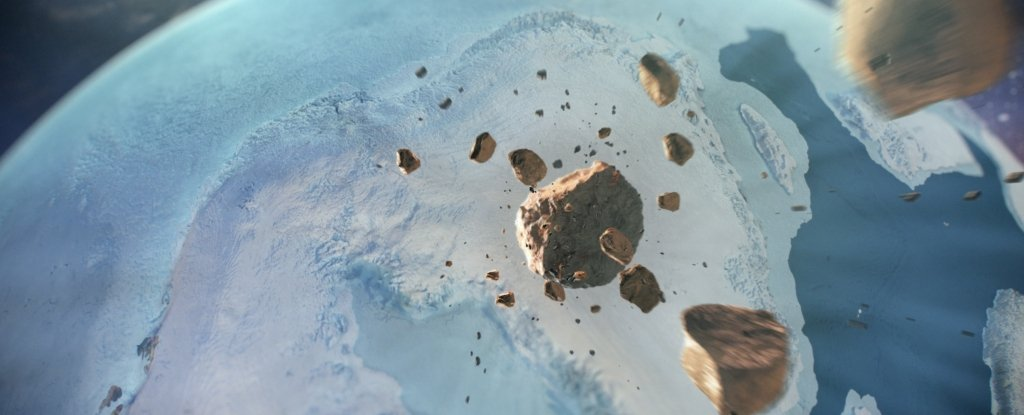 Under the Greenland glacier discovered the 31-kilometer impact crater
