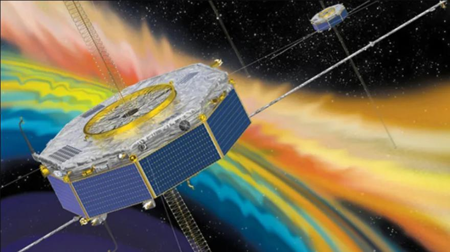 The spacecraft observed an explosion in the Earth's magnetic field