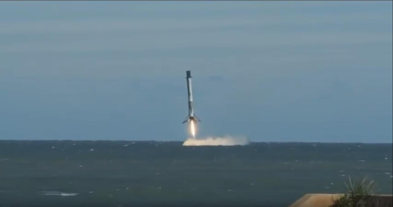 #video | See the full landing of the Falcon 9 rocket on the water