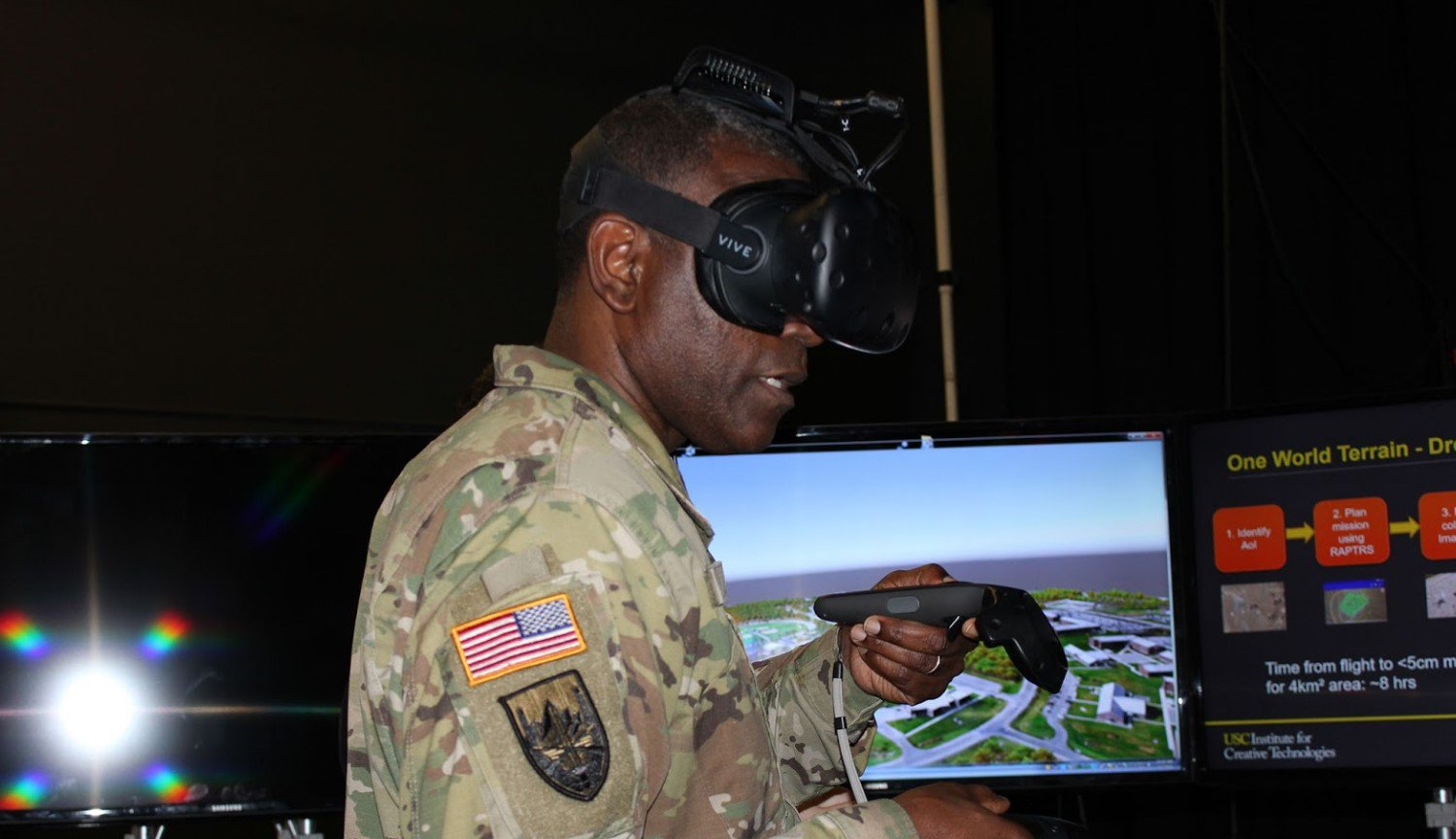 The U.S. army is developing a system for training soldiers in a virtual reality