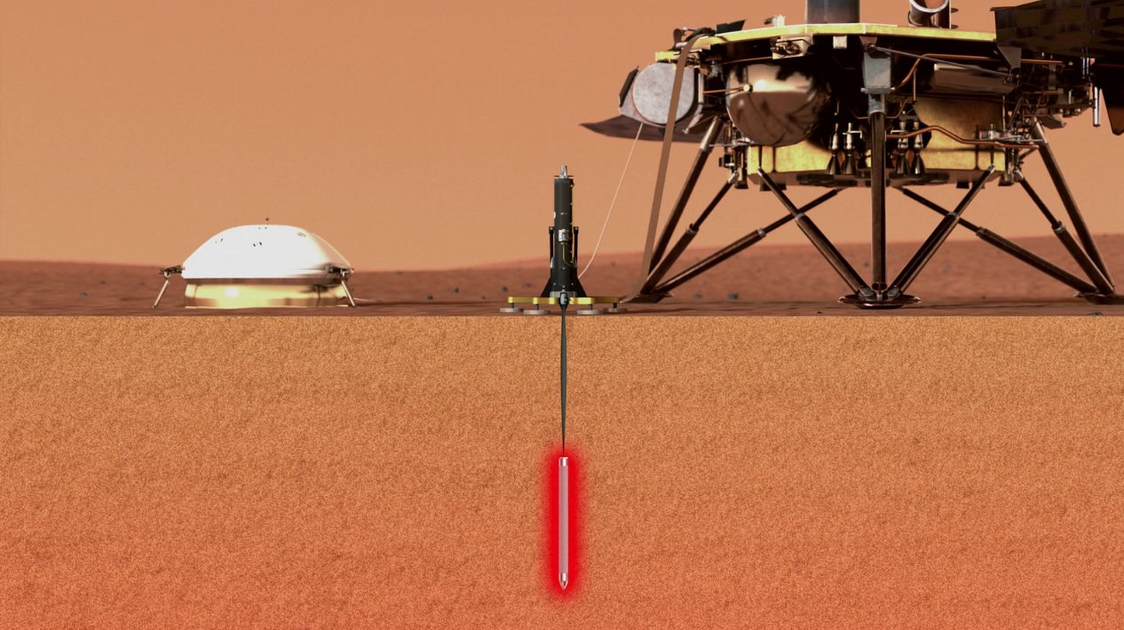 The landing Martian module, InSight has started drilling on Mars. Is the first progress