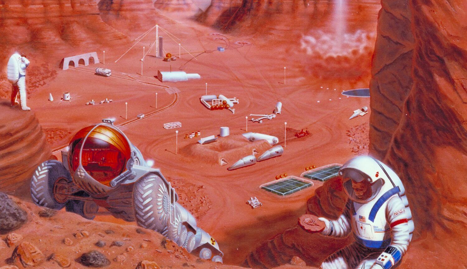 Can the microbes to do mining on Mars?