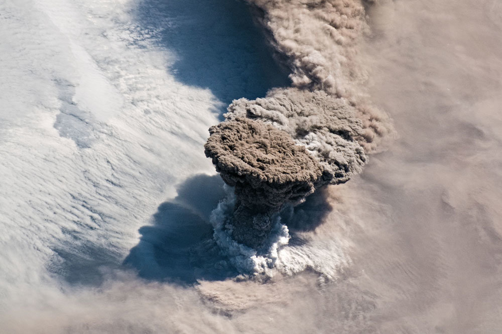 Awakened from a 100-year sleep, the volcano has destroyed all life around