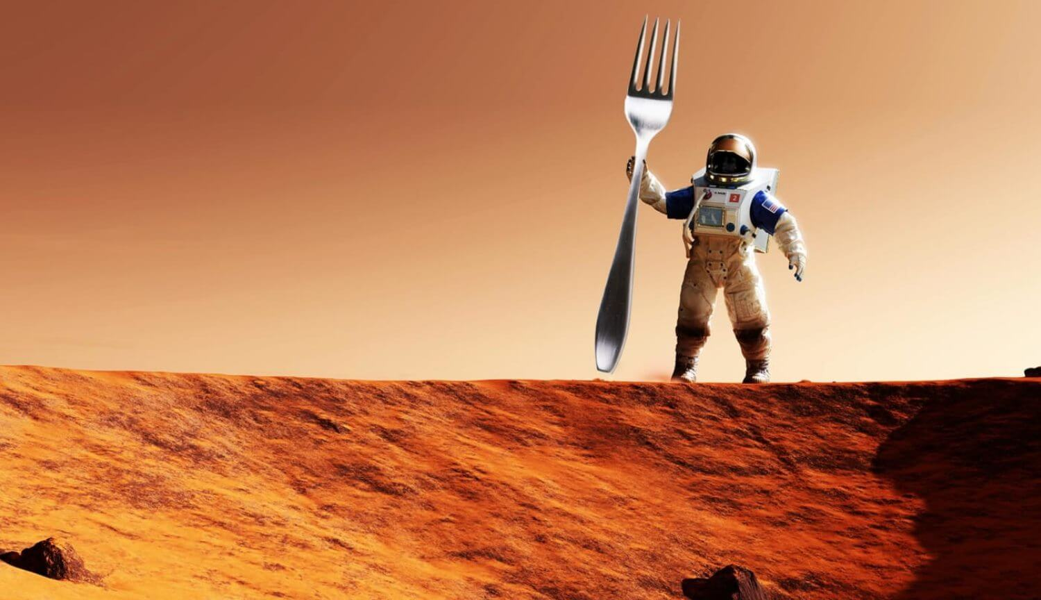 You need to eat and drink to survive on Mars?