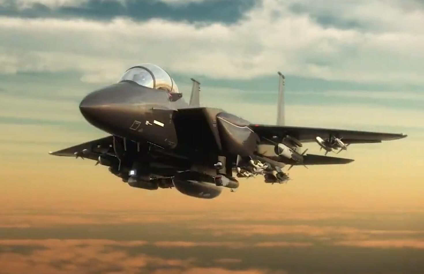 Boeing first revealed on video the newest F-15EX