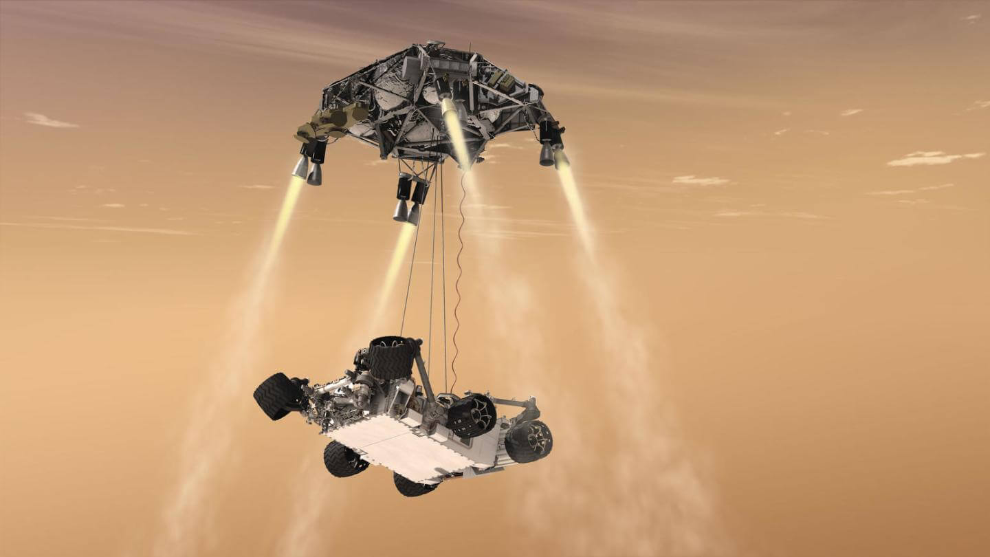 NASA is testing the separation of steps of the descent of the Mars 2020 Rover