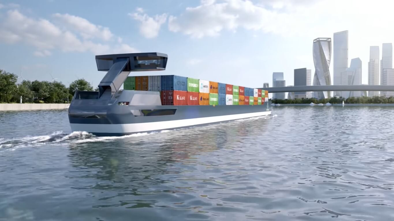 "Electric ""Tesla ships"" can carry up to 280 containers"