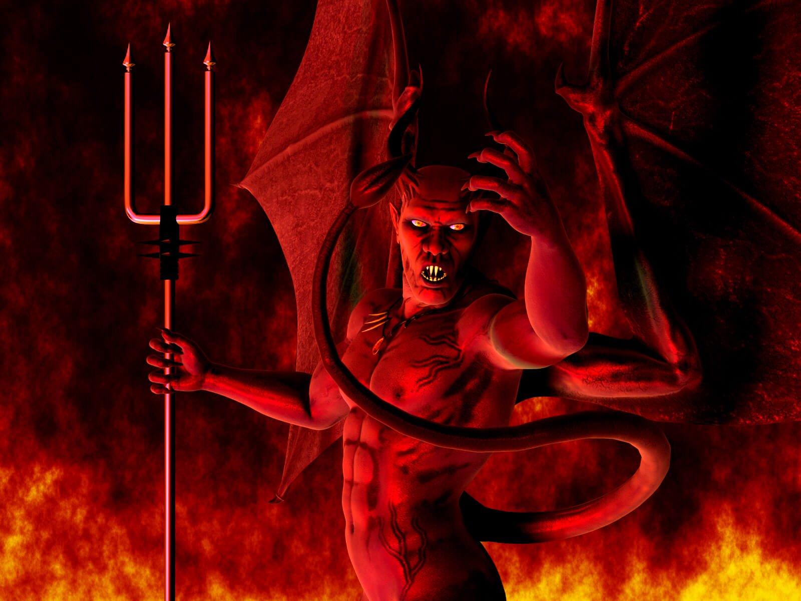 Картинка про сатану настоящие
