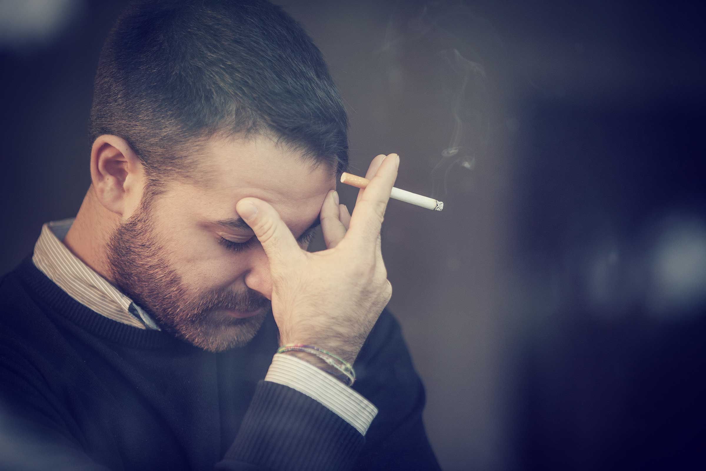 Smoking causes increased sensitivity to pain