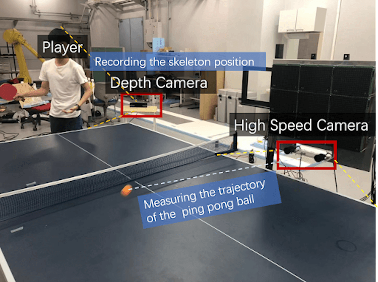 The neural network will help to beat a professional player in table tennis